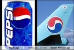 pepsi logo nagu korean air logo