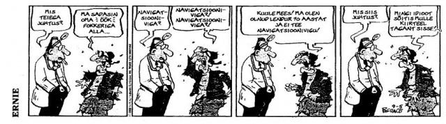 Ernie koomiks - Navigatsiooniviga?